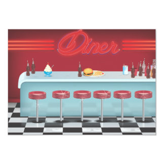All American Diner Restaurant Card