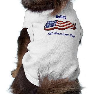 All American Dog Custom Personalized Name Shirt