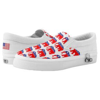 All American Elephant & U.S. Flag Printed Shoes