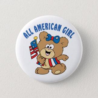 All American Girl Bear 6 Cm Round Badge