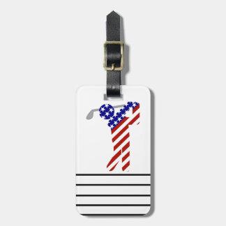 All American Golfer - Mens Golf Luggage Tag