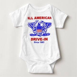 All American HAMBURGER Drive in baby jersey Baby Bodysuit