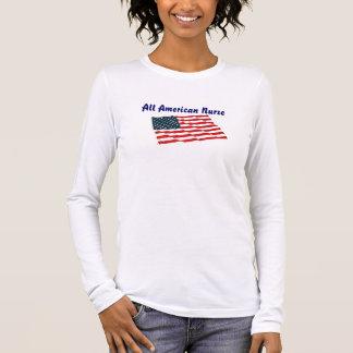 All American Nurse Long Sleeve T-Shirt