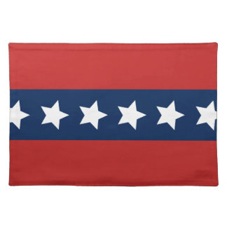 All-American Red White and Blue Stars and Stripes Place Mats
