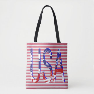 All American USA Flag Logo Striped 2 Tote Bag