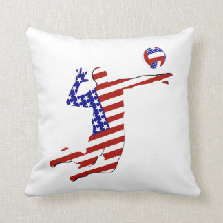 All-American Volleyball Player Cushion