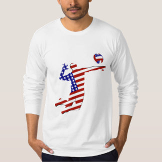All-American Volleyball Player T Shirts