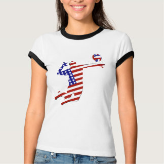 All-American Volleyball Player Tee Shirts