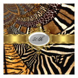 All Animal Skin Look Any Birthday Party Personalized Announcements