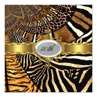 All Animal Skin Look Any Birthday Party 13 Cm X 13 Cm Square Invitation Card