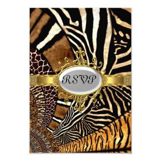 All Animal Skin look Birthday Party RSVP 9 Cm X 13 Cm Invitation Card