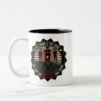 All Animals Are Equal Two-Tone Coffee Mug