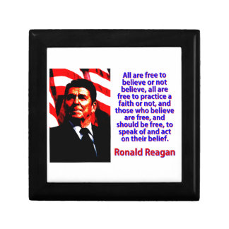 All Are Free To Believe - Ronald Reagan Gift Box