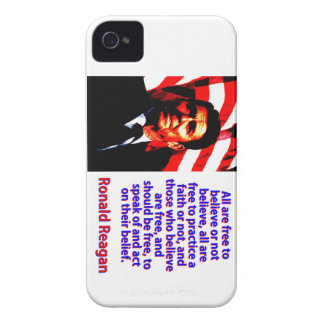 All Are Free To Believe - Ronald Reagan iPhone 4 Case