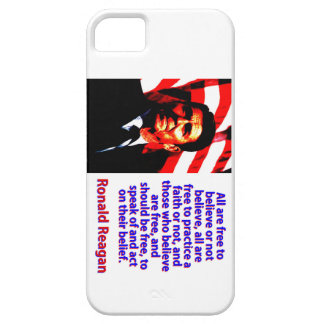 All Are Free To Believe - Ronald Reagan iPhone 5 Case