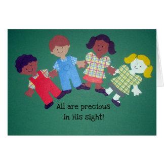 All are precious in His sight! Card
