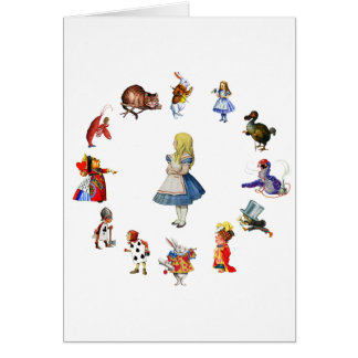 ALL AROUND ALICE IN WONDERLAND CARD