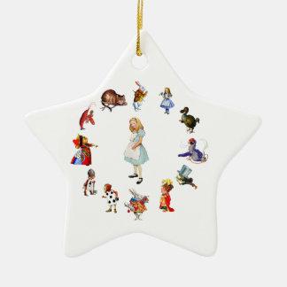 All Around Alice In Wonderland Ceramic Star Decoration