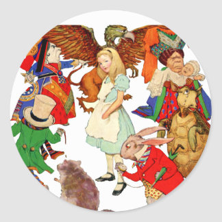 All Around Alice in Wonderland Classic Round Sticker