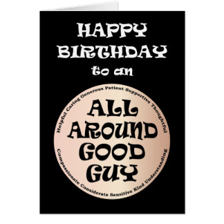 All Around Good Guy Birthday Card