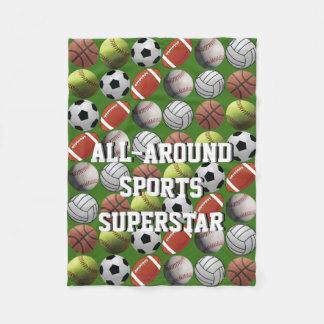 All Around Sports Superstar Fleece Blanket