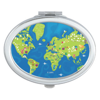 All Around the World Makeup Mirror