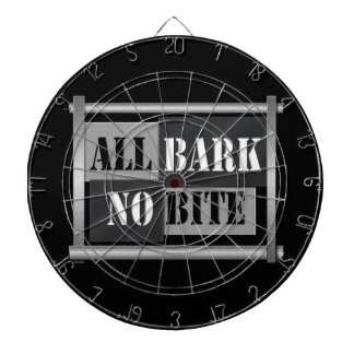 All bark no bite. dartboard