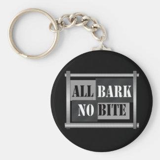 All bark no bite. key ring