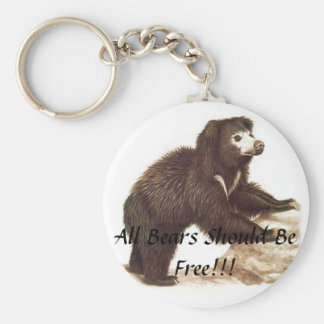 All Bears Sould Be Free Basic Round Button Key Ring