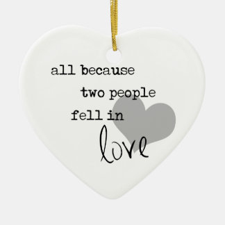 all because two people fell in love modern simple ceramic ornament