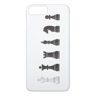 All black one white, chess pieces iPhone 8 plus/7 plus case