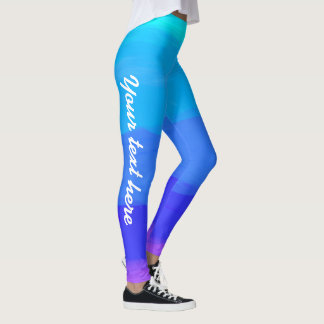 All Blue colors pattern customizable leggings