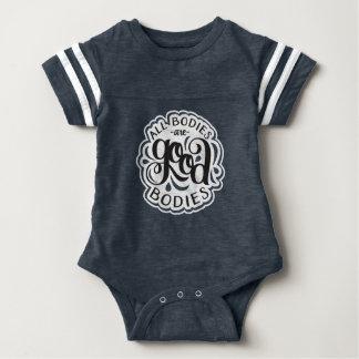 All Bodies are Good Bodies Navy One-Piece Romper Baby Bodysuit
