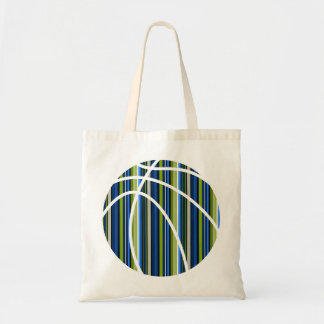All Boy Stripe Blue and Green Basketball Tote