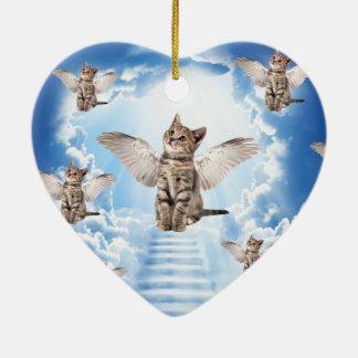 All Cats Go to Heaven Ceramic Heart Decoration