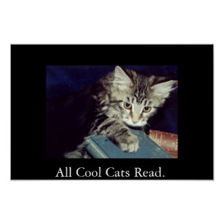 All Cool Cats Read. Poster