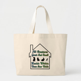 All Creatures Great & Small Jumbo Tote Bag