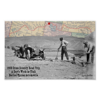 All Day Utah 1908 Road Trip Poster