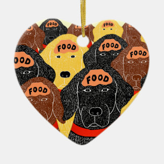 all dogs brains are about the same-Food Ceramic Ornament