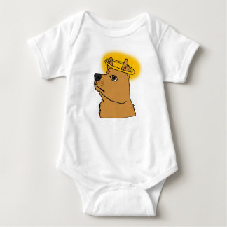 All Dogs Go To Heaven Hand-drawn Cartoon Baby Bodysuit
