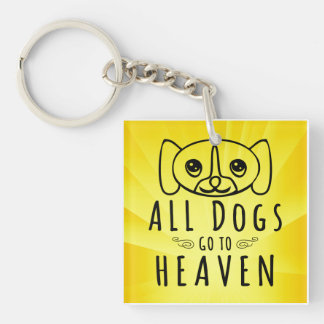 All Dogs Go to Heaven Key Ring