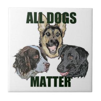 All dogs matter ceramic tile