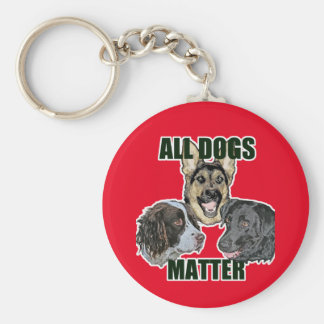All dogs matter key ring