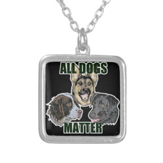 All dogs matter silver plated necklace