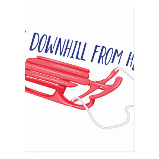All Downhill Postcard