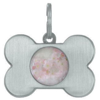 All Dreams in Pink Pet Name Tag
