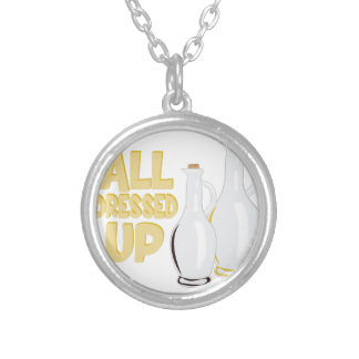 All Dressed Up Silver Plated Necklace