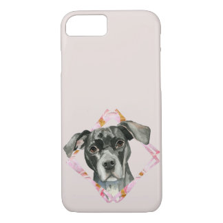 """All Ears"" 2 Black Pit Bull Dog Illustration iPhone 8/7 Case"