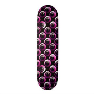 All Eyeballs On You pink BLK Skate Deck