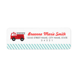 All Fired Up Return Address Labels